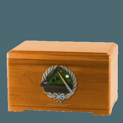 Billiards Oak Cremation Urn