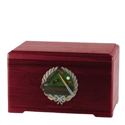 Billiards Rosewood Cremation Urn