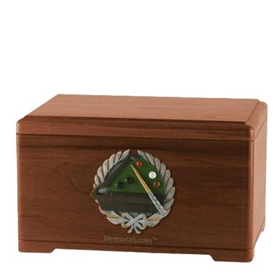 Billiards Walnut Cremation Urn
