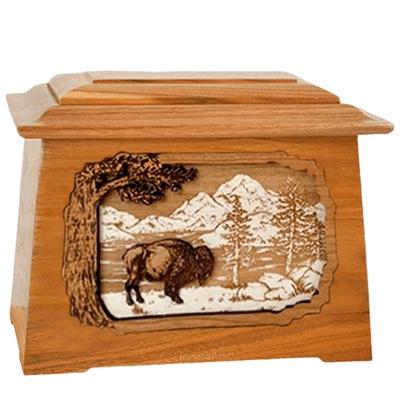 Bison Mahogany Aristocrat Cremation Urn