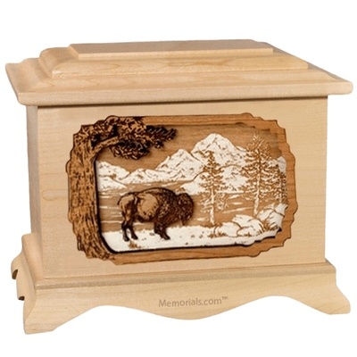 Bison Maple Cremation Urn