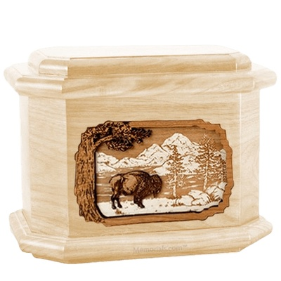 Bison Maple Octagon Cremation Urn
