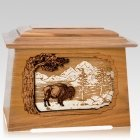 Bison Oak Aristocrat Cremation Urn