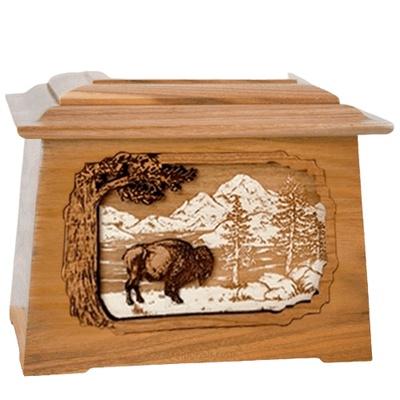 Bison Oak Aristocrat Cremation Urn