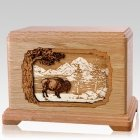 Bison Oak Hampton Cremation Urn