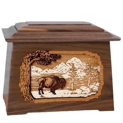 Bison Walnut Aristocrat Cremation Urn