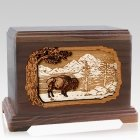 Bison Walnut Hampton Cremation Urn
