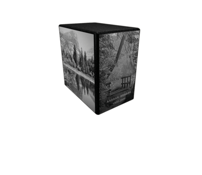 Black & White Forest Cremation Urn