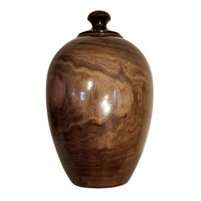 Black Walnut Wood Cremation Urn