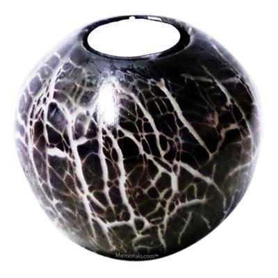 Black Candle Glass Pet Urn