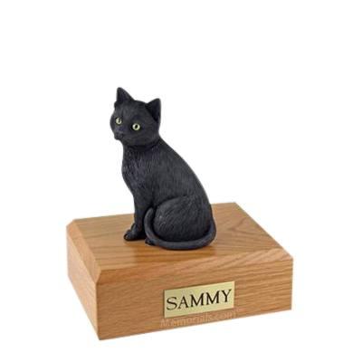 Black Cat Large Cremation Urn