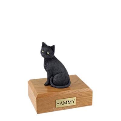 Black Cat Small Cremation Urn