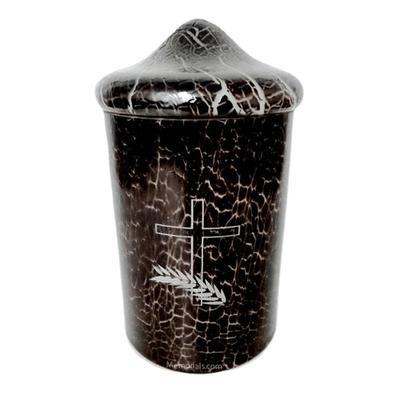 Black Crackle Glass Cremation Urn