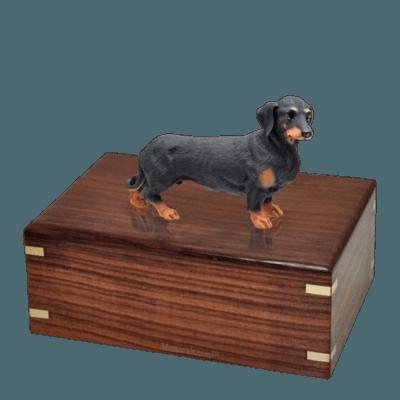 Black Dachshund Large Doggy Urn