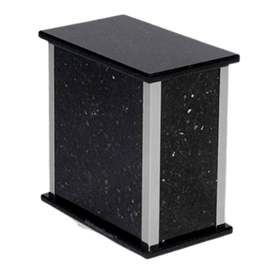 Black Galaxy Silver Granite Urn