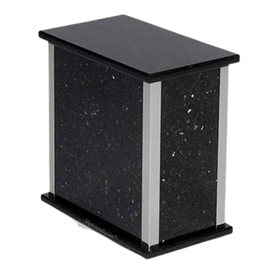 Black Galaxy Silver Granite Urn