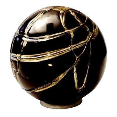 Black Gold Glass Cremation Urn