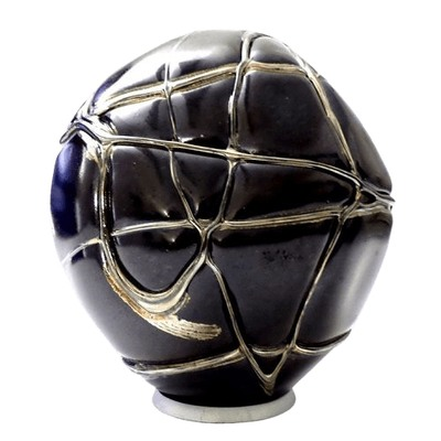 Black Gold Organic Glass Cremation Urn