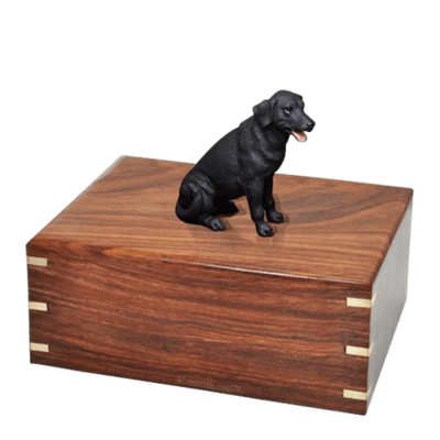 Black Labrador Large Doggy Urn