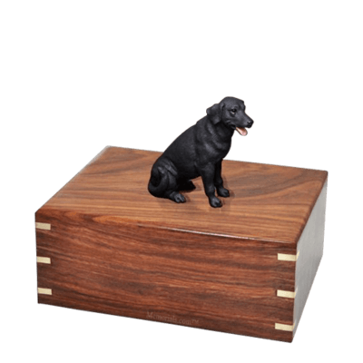 Black Labrador Medium Doggy Urn