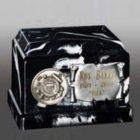 Black Marble Military Keepsake Urn