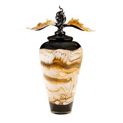Black Strata Companion Cremation Urn