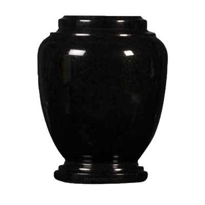 Black Traditional Granite Cremation Urn