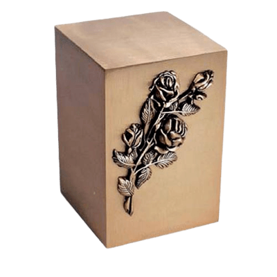 Blossoms Bronze Cremation Urn