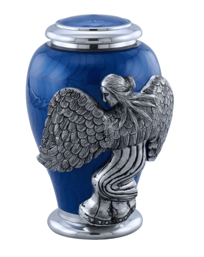 Blue Angel Funeral Urn