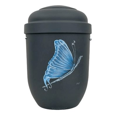 Blue Butterfly Biodegradable Urn