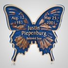 Blue Butterfly Grave Bronze
