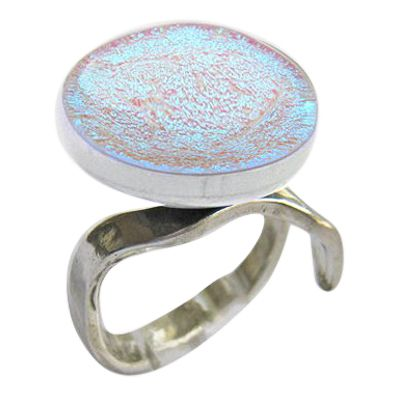 Blue Eternity Ashes Ring