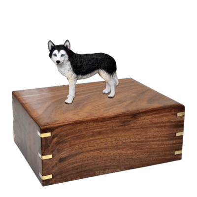 Blue Eyed Husky Large Doggy Urn