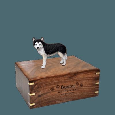Blue Eyed Husky Small Doggy Urn