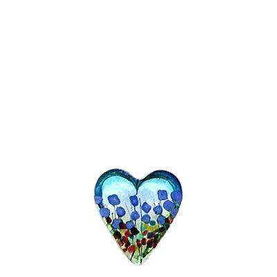 Blue Iris Glass Heart Keepsake