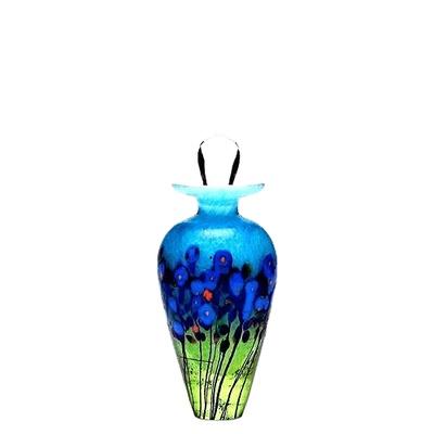Blue Iris Glass Keepsake Cremation Urn