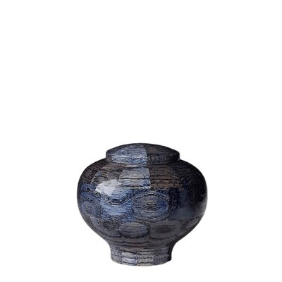 Blue Keepsake Wood Urn
