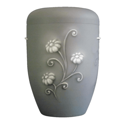 Frost Flower Biodegradable Urn