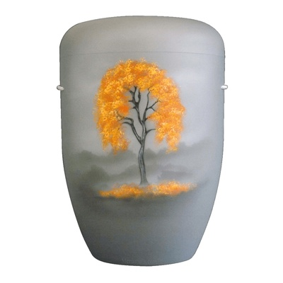 Autumn Birch Biodegradable Urn