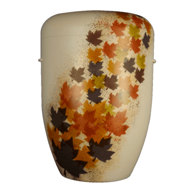 Fall Leaves Biodegradable Urn
