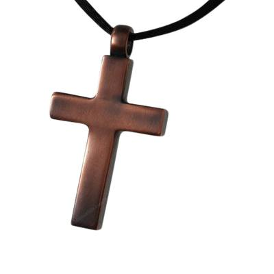 Bronze Cross Cremation Pendant