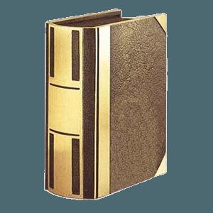 Bar II Book Bronze Cremation Urn