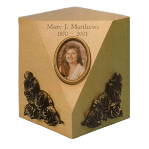 Camo Canvas Bronze Cremation Urn