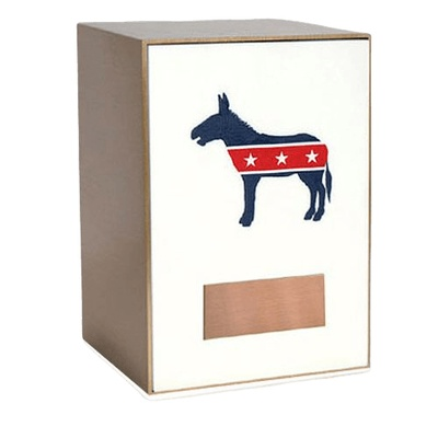 Democratic Bronze Cremation Urn
