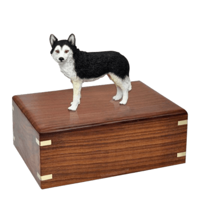 Brown Eyed Husky Large Doggy Urn