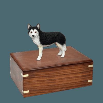 Brown Eyed Husky Medium Doggy Urn