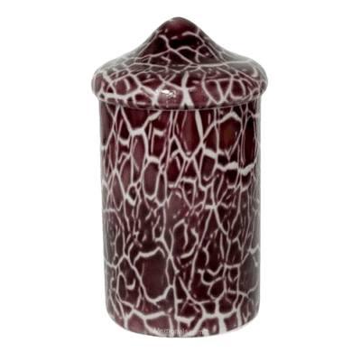 Burgundy Crackle Glass Cremation Urn