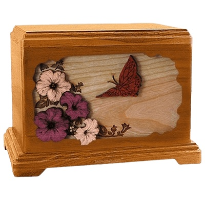 Butterfly Mahogany Hampton Cremation Urn