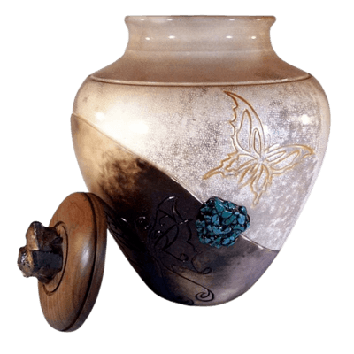 Butterfly Nature Cremation Urn