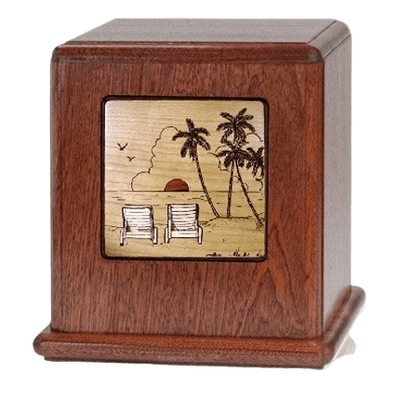 By the Beach Wood Cremation Urn